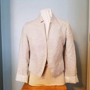 Apt. 9 white & silver metallic blazer, 8